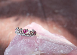 Ruby with cubic zirconia