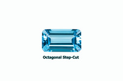 Topaz in step cutting with octagon