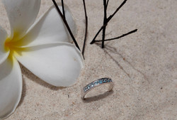Zircon with 92.5% sterling silver
