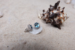 London Blue Topaz and cubic zirconia