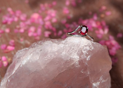 Rhodolite with Silver 92.5%