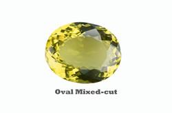 Lemon Quartz in Oval Mixed-cut