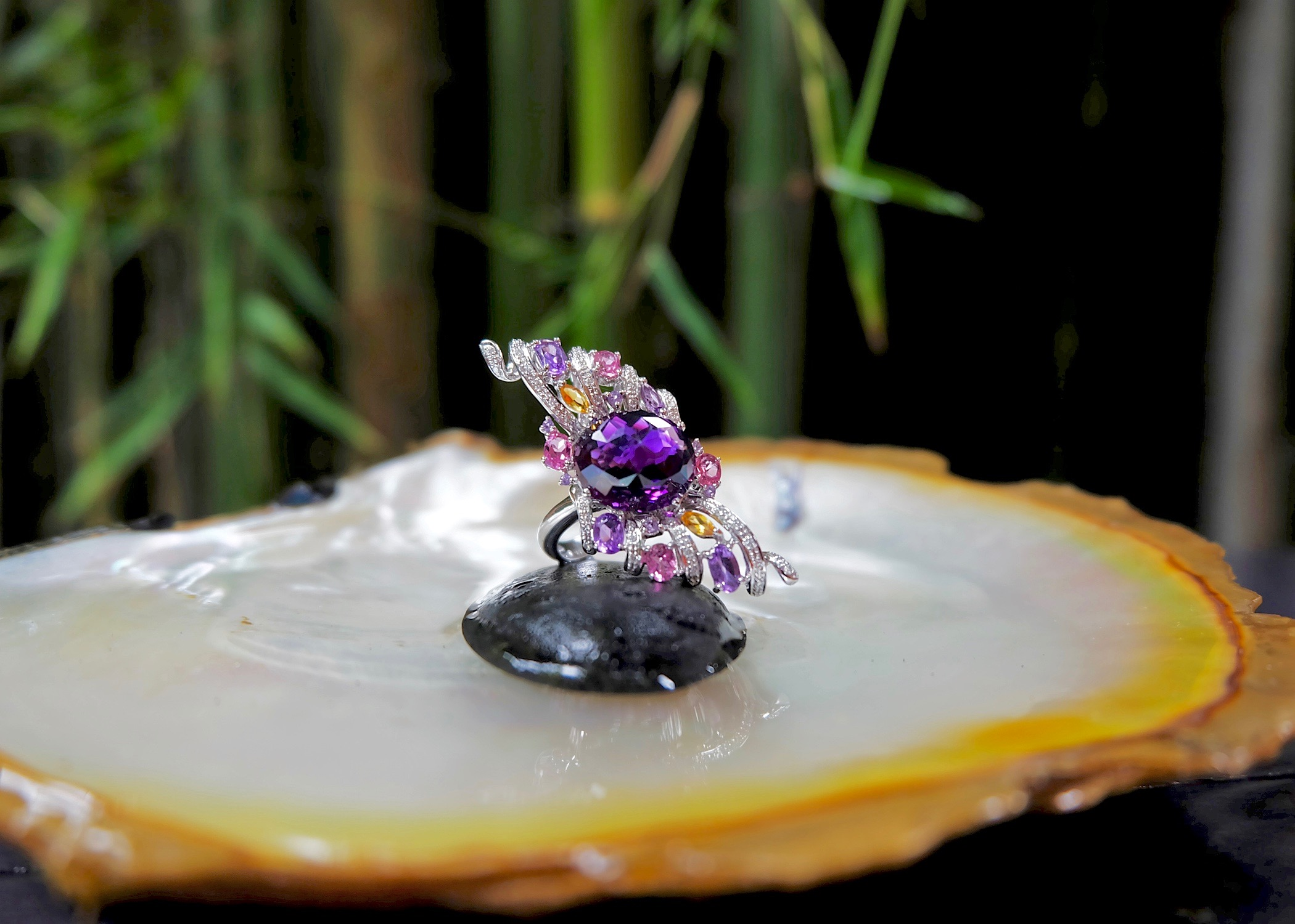 The Wing of Amethyst ring