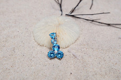 Blue Topaz pendant with Silver 92.5%