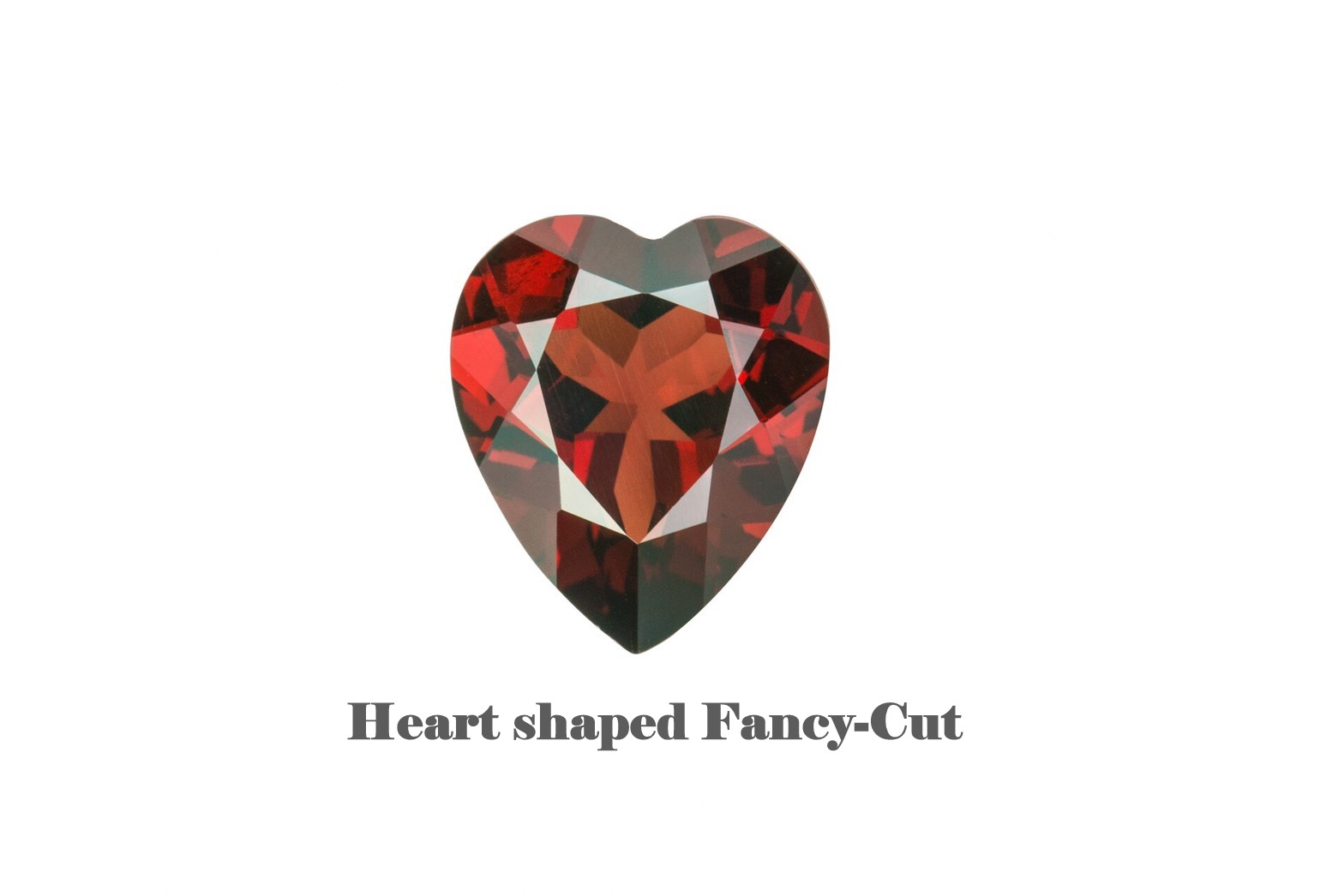 Heart Shaped Fancy-Cut Garnet