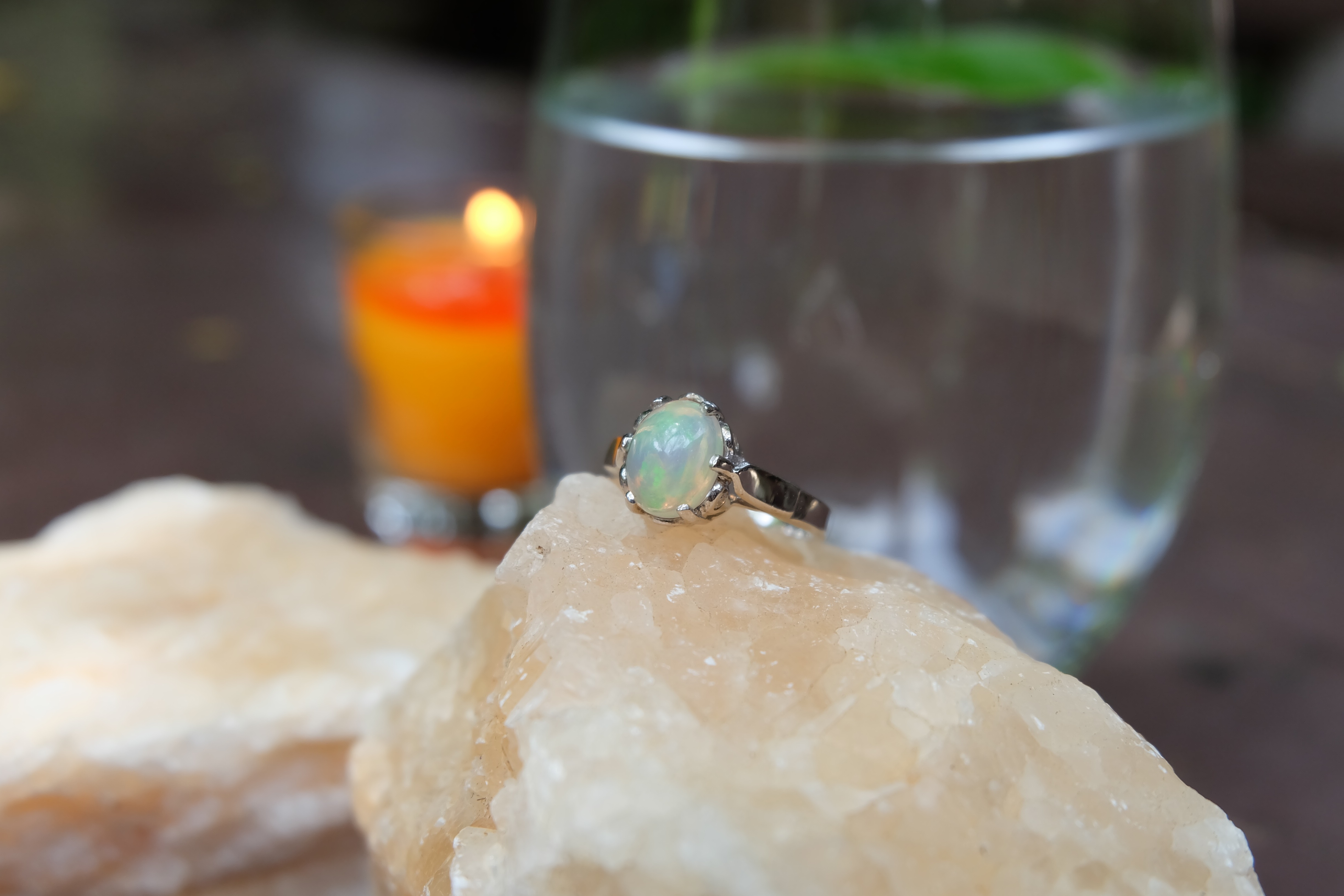 Opal in Sterling Silver 92.5% Ring