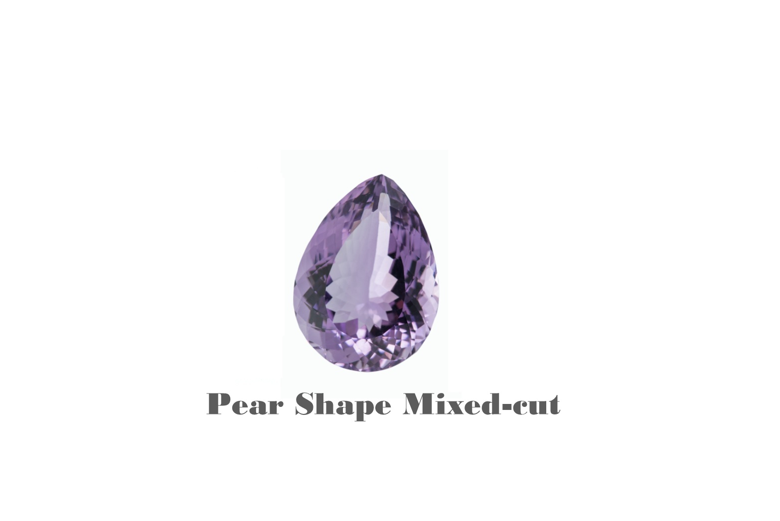 Amethyst in pear Shape