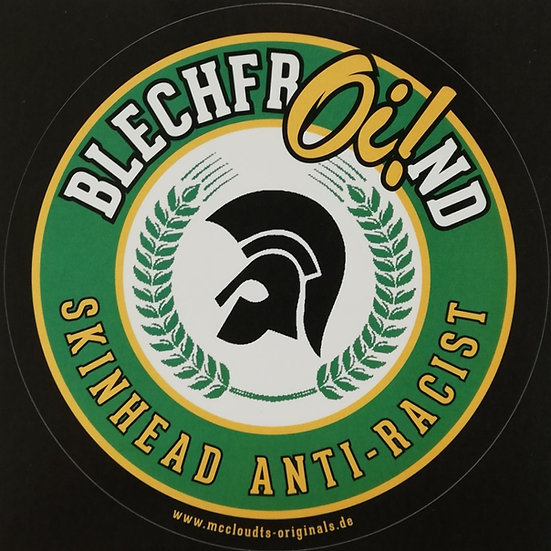Sticker BlechfrOi!nd  Skinhead Anti-Racist