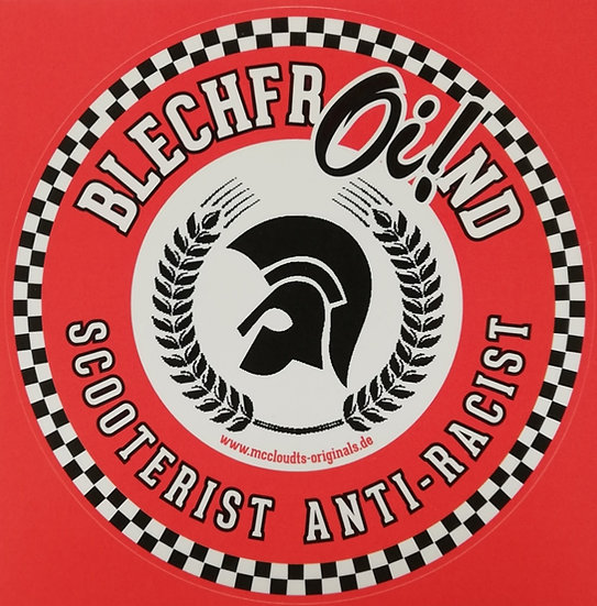 Sticker BlechfrOi!nd Scooterist Anti-Racist