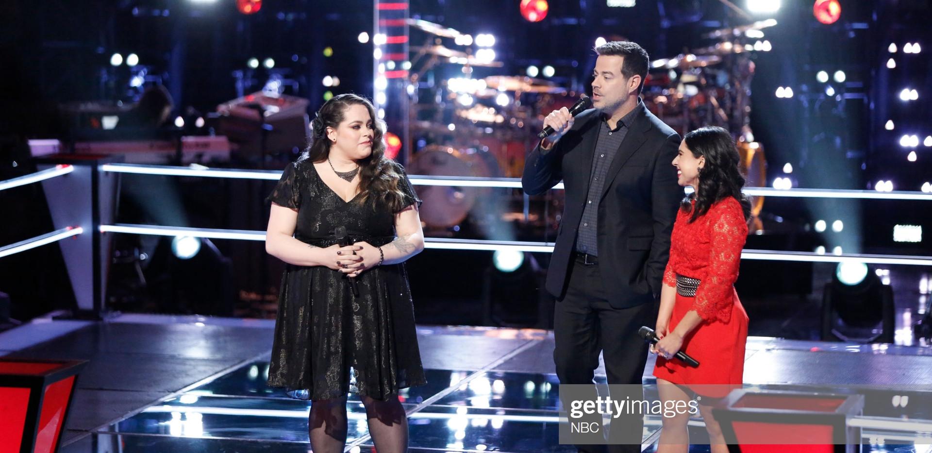 Valerie Ponzio The Voice Battle w/ Carson Daly