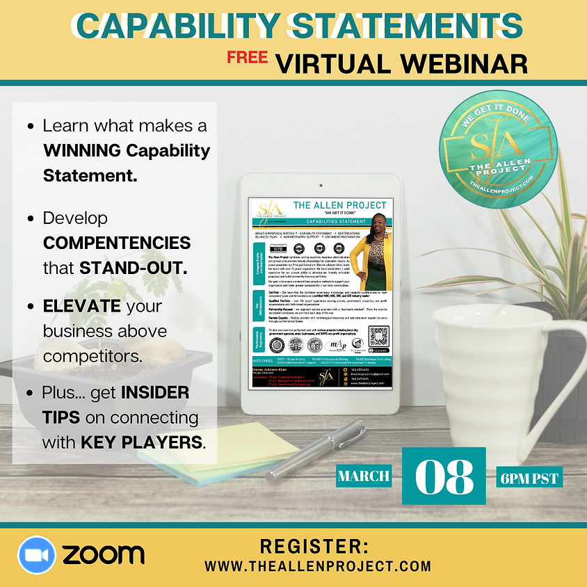 Capability Statements - Get Your Organization Seen for $$