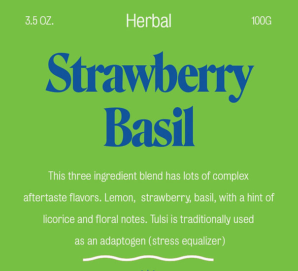 Strawberry Basil - Herbal Tea