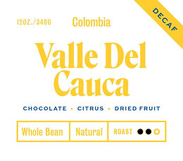 Colombia Valle Del Cauca - Decaf