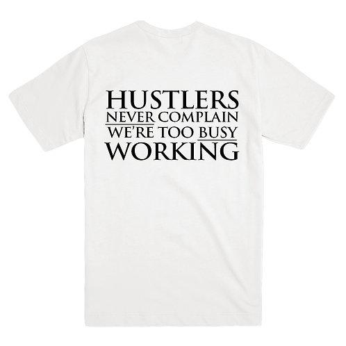 Men's Tee White Hustler