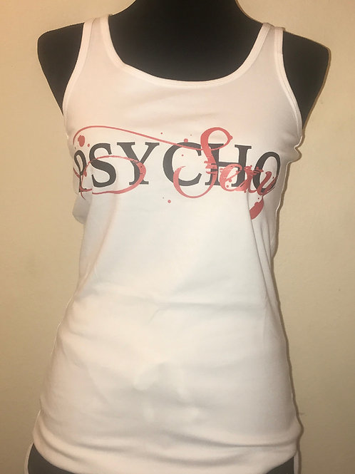 Women's Tank Top White Sexy Psycho