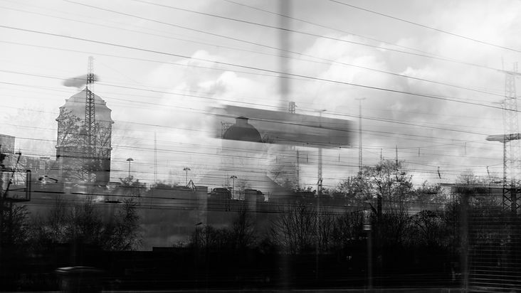 train ride germany travel multiple exposure phtography
