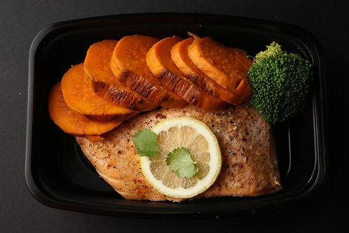 Salmon with Sweet potatoes