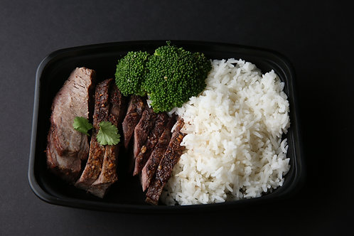 Steak and Rice with Broccoli
