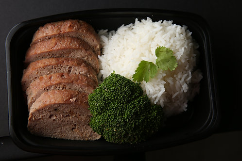 Turkey and rice with broccoli
