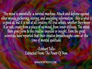 The Mind Gives Form To The Creative Impulse.