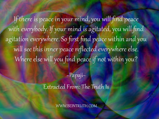 Find Peace Within First.