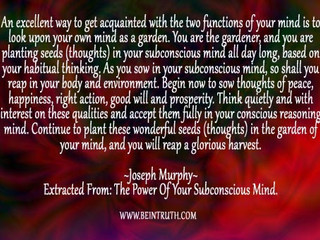 Perceive Your Mind As A Garden.