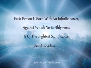 You Were Born With Infinite Power.