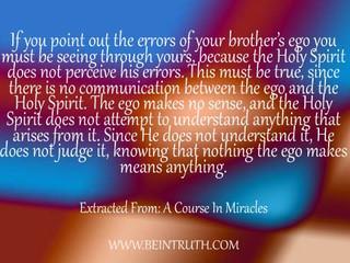 The ego makes no sense.
