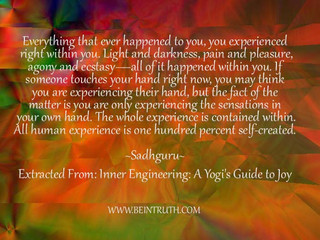 Your experience Is Within You.