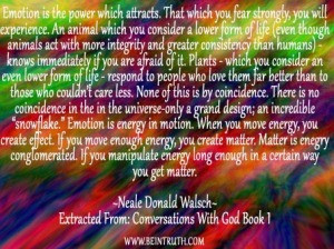 In Our Emotions And Feelings Is Where Our Power To Manifest Is.