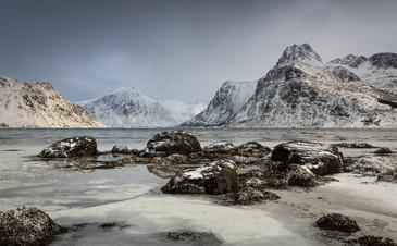 Winter landscape from Flakstadpollen