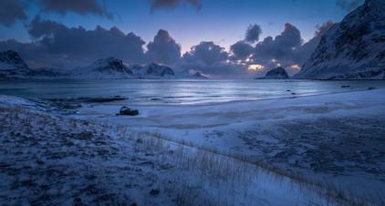 Blue hour over Haukland