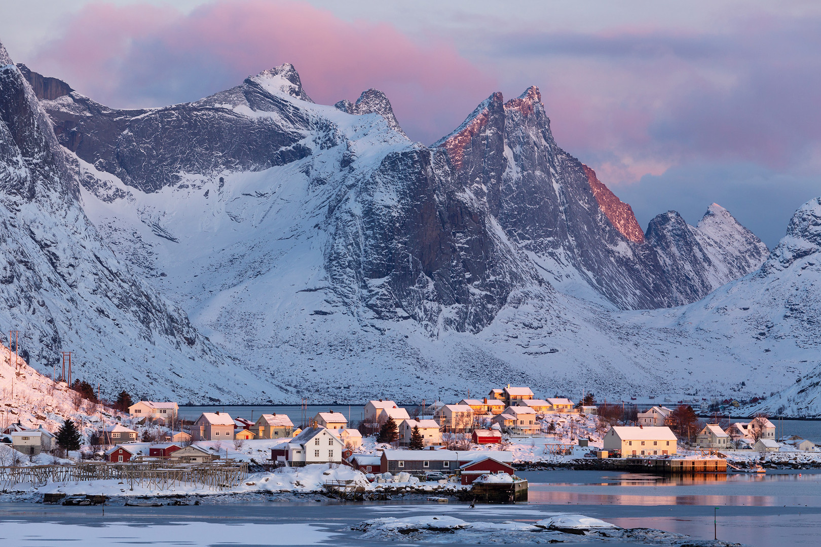 Colours of sunrise over Reine