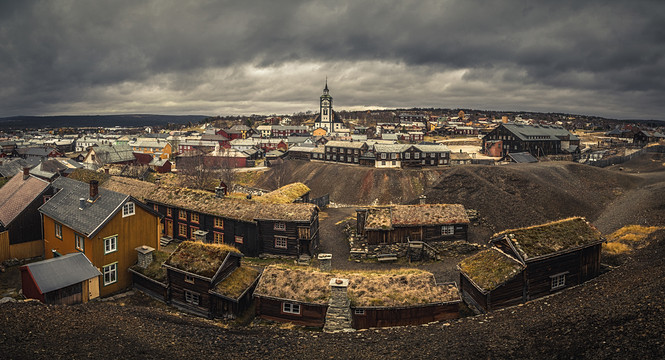 Panorama of Røros town