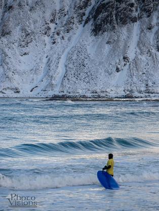 Arctic surfing school