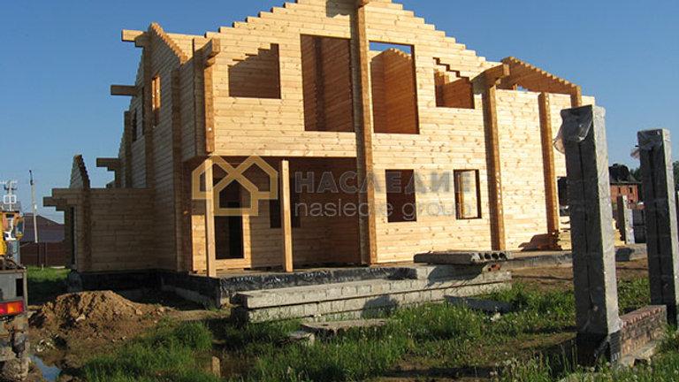 Дом из клееного бруса в д. Малые Вяземы 267м2