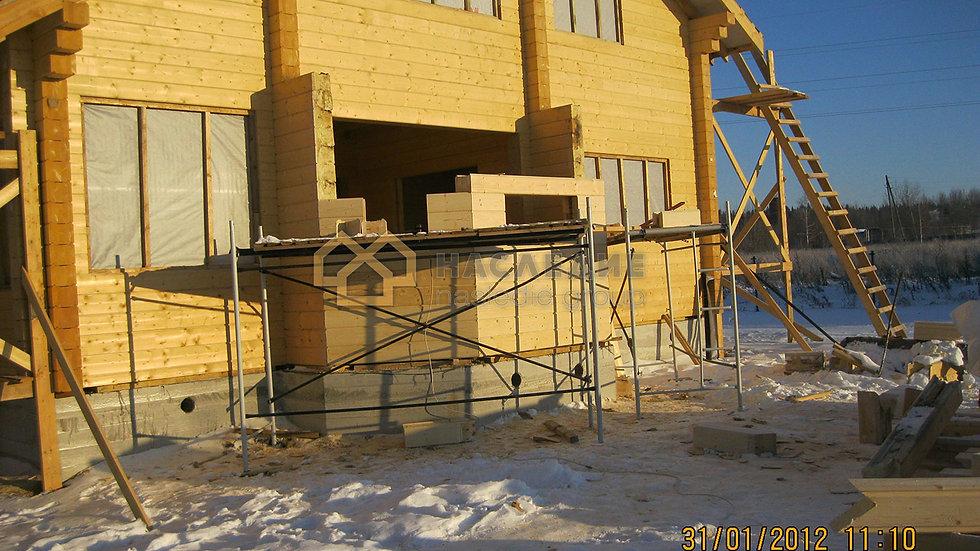 Дом из клееного бруса в д. Раково 187м2»