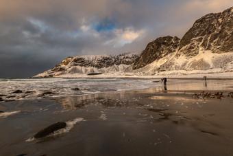 Shooting on Unstad beach