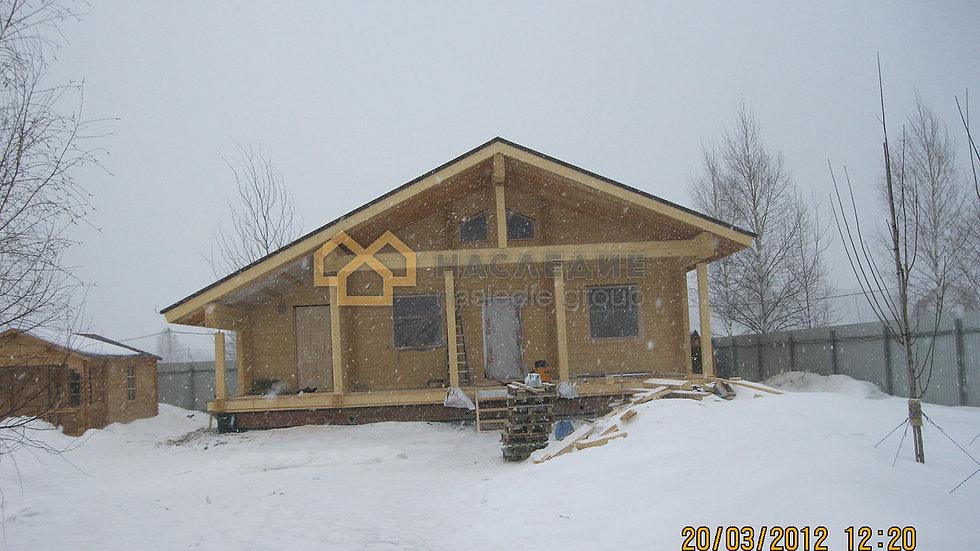 Дом-баня из клееного бруса в с. Ершово 86м2