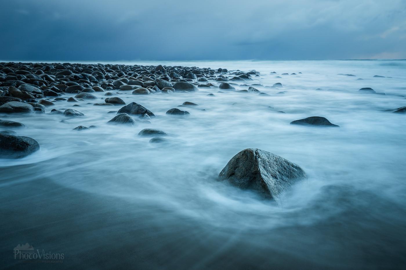 Last light, Unstad beach
