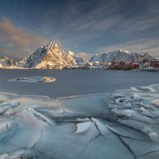 Icy shore in Reine
