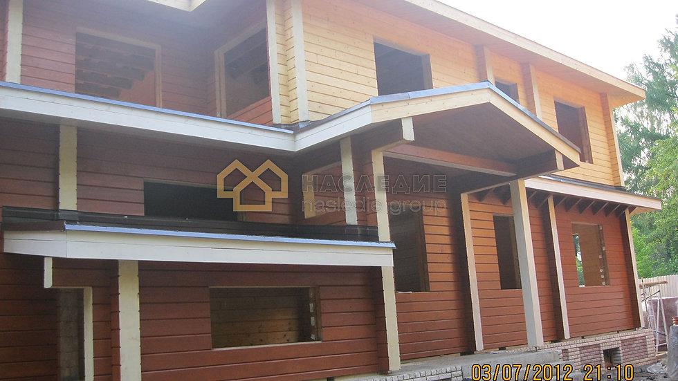 Дом из клееного бруса в д. Исаково 361м2
