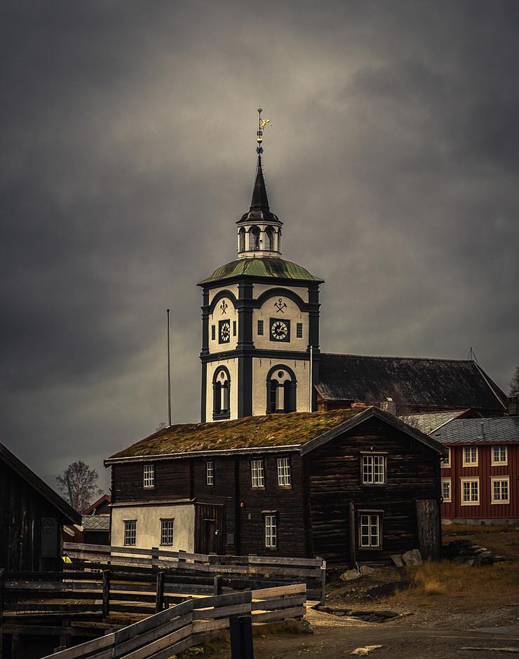 Clock tower of Røros church