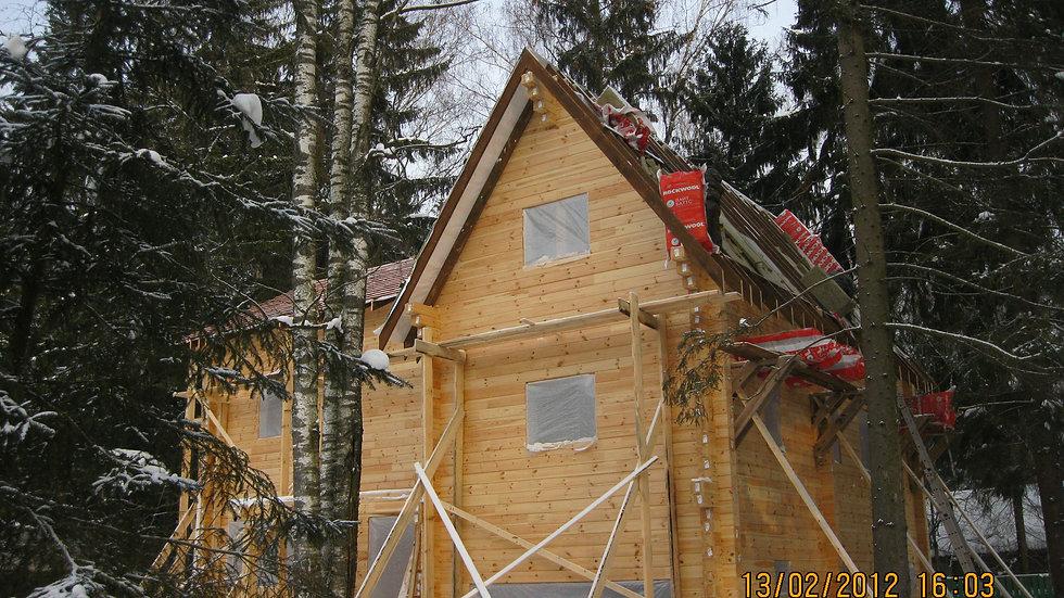 Дом из клееного бруса в д. Онуфриево