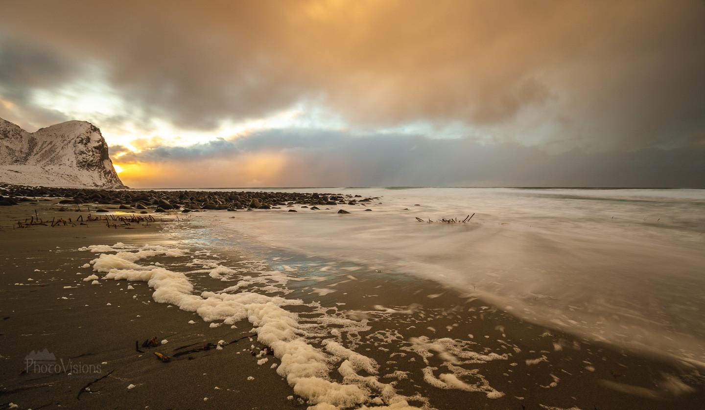 Sunset on Unstad