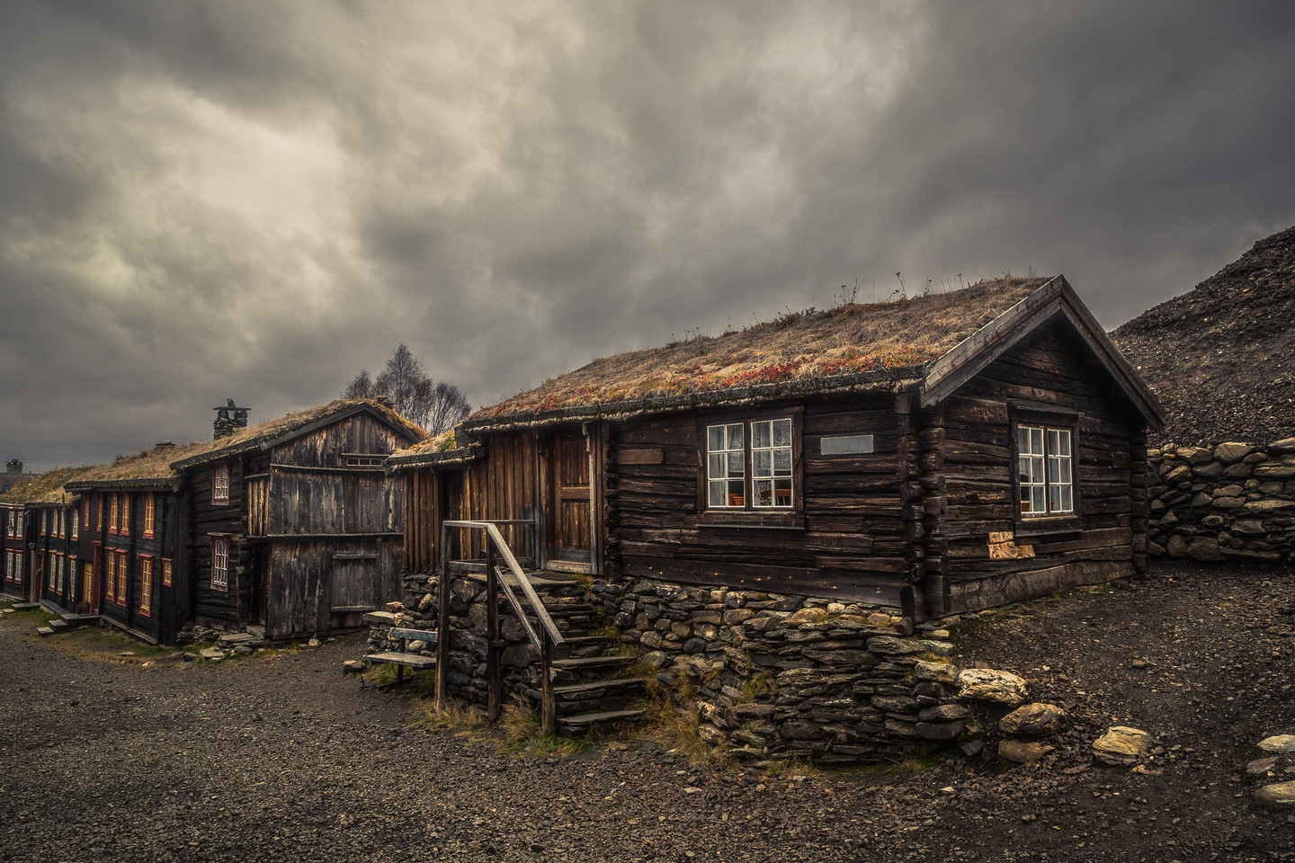 Cloudy day in Røros town.