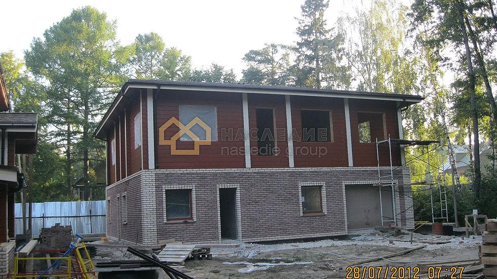 Гостевой дом из клееного бруса в д. Исаково 160м2