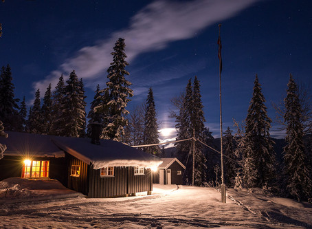 Norwegian life style - Cabin trip, winter time.