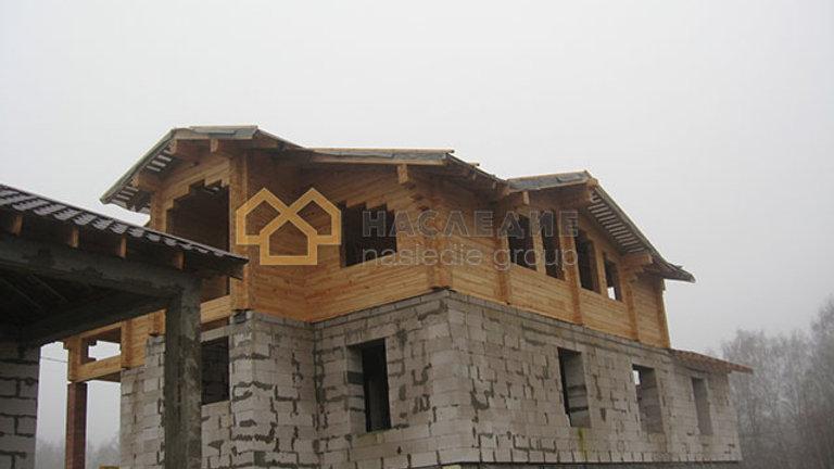 Дом из клееного бруса в д.Якшино