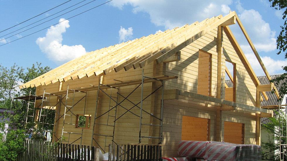 Дом из клееного бруса в д. Фролово